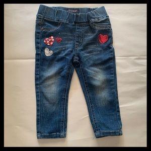 Vigoss Stretch Jeans Sequin Hearts